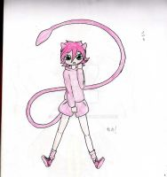 Mew gijinka by ren-chanXD