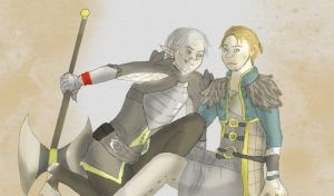 Damn you, Mage! - Fenris/Anders -DA2 by ImperialCharles