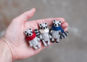 raccoons by freedragonfly