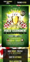 Poker Tournament Night Flyer Template by odindesign
