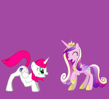 me and princess cadence by gabyamaris