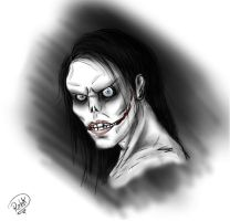 Jeff The Killer Doodle by aqilesbailo