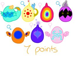 MLP Adoptable Eggs by Luxjii