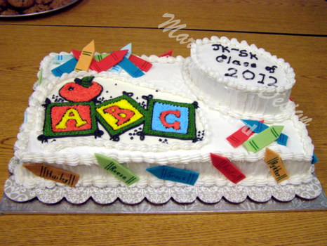Kindergarten  Grad Cake with Watermark by Mar-a-thon