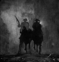 Riders in the Night by Asynja