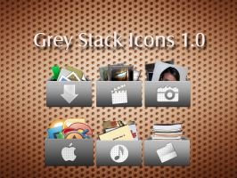 Grey Stack Icons by xtian