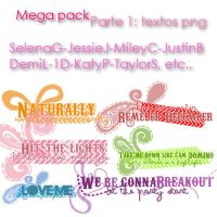 Pack Parte1: Textos PNG by ValeCat