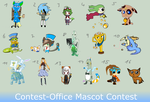 Contest-Office Mascot-Contest - ALL ENTRIES by Nahemii