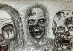 The Walking Dead Zombies Sketch-2 by ZombieAshley7