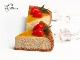 Earrings Cheesecake 2 by OrionaJewelry