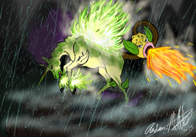The Earthen Flame cries out within the Storm by AmethystClaw