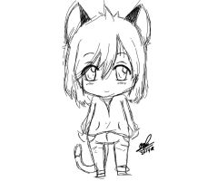 Chibi Kitty by OriChes