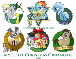 My Little Pony Christmas Ornaments Set 2 DOWNLOAD by SouthParkTaoist