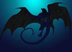 Nightmare Dragoness by KaiserScotty