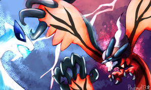 lugia vs Yveltal by Phatmon