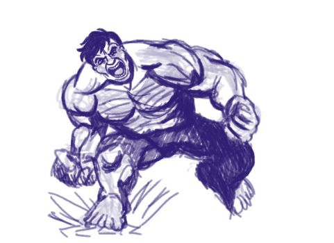 Hulk Sketch by CartoonyStuff