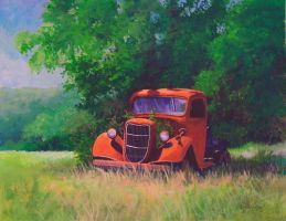 Antique Truck by KathleenCasey