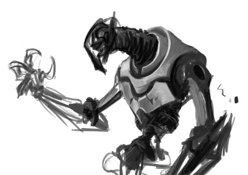 Grievous sketch    UNFINISHED by VeloLagoon