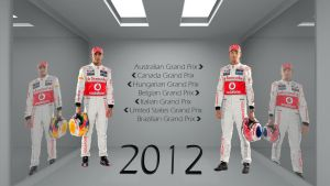 Lewis Hamilton And Jenson Button 2012 To Wins by curtisblade