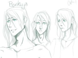 Faces of Byakuya by NobleMooncalf