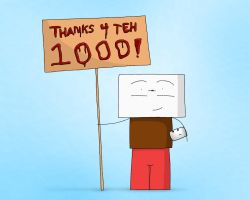 1,000 pageviews by ReFreezed