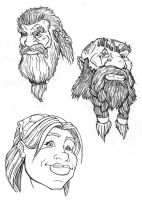 Dwarven Heads by Shryland