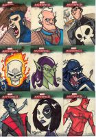 Marvel Masterpieces 3 Set 2 by Bloodzilla-Billy