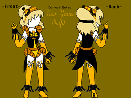 Cupcake's Outfit Contest Entry -Front AND Back- by AskAquaPrincess-AT