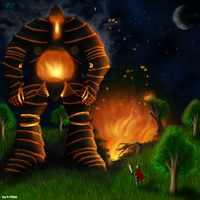 Xiuhco the fire colossus by Teknik1