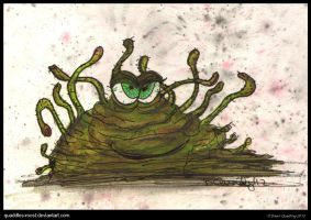 Slimer Monster by Quaddles-Roost