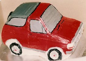 SUV cake by peaceocake