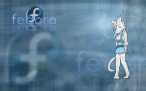 Fedora Linux Wallpaper by Ihara