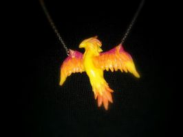 WoW Inspired Phoenix Hatchling Necklace by Euphyley