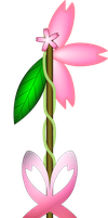 Cherry Bloom Keyblade by Creshosk