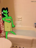 Ace, what the hell are you doing in MY bathtub?! by DarkRoseDiamond123
