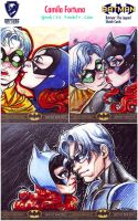 Cryptozoic's DC Sketchcards: Babs and Dick by CamiFortuna