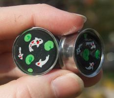 Koi plugs by Phoenix-Cry