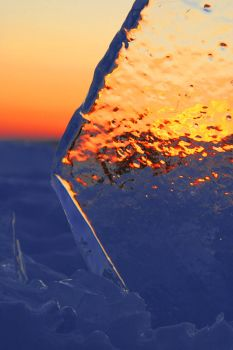 Sunset Ice by croio123
