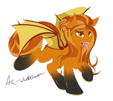 Orange Batpony by AC-whiteraven