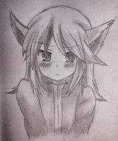 Silver from Pokemon with cat ears by hollyvalance