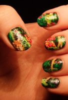 Jungle Nail Art by Lyralein