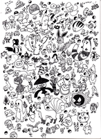 Pokemon Doodles by ieaka