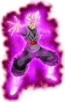 Goku Black ssj rose power kii by jaredsongohan