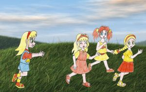 Human LBT Young Cera and her sisters by Animedalek1