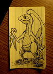Grovyle on a Post-it by ProfessorScam