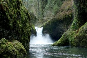 Punchbowl Falls, Oregon by J-the-Ninja