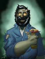 Zombie Billy Mays Here by fdiskart