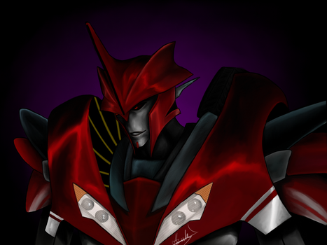 Knockout Transformers Prime by Azulg