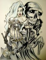 Steam Punk Lady Death by DWM by ConceptsByMiller