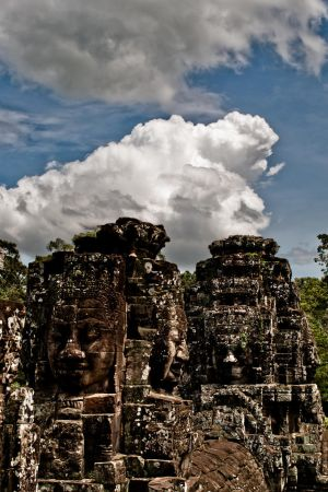 The Faces Of Bayon by resbian2002